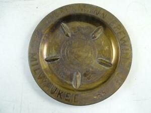 Antique 1870s J. Obermann Brewing Co Milwaukee WI Advertising Ashtray Pre-Pro