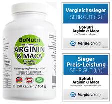Maca 3600 mg + Arginin 3000 mg Tagesdosis 150 Kapseln Qualität Deutschland Vegan