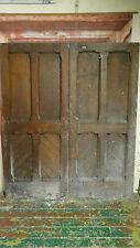 C31 (58 3/4 x 69 1/2) Pair of old Victorian pitch pine cupboard doors in York