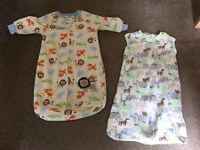 TWO BABY SLEEPSACS 0-9 MONTHS