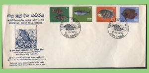Sri Lanka 1972 Fish set on First Day Cover, Colombo