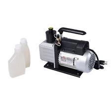 HOMCOM Dual Stage Vacuum Pump 5CFM 1/2HP Rotary Vane Deep HVAC AC Air Tool Black