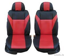 2x vordere Sitzbezug Sitzbezüge Schonbezüge Leder Rot für Alfa Romeo Audi BMW