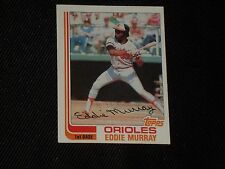 HOF EDDIE MURRAY 1982 TOPPS SIGNED AUTOGRAPHED CARD #390 ORIOLES