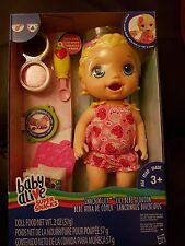 "Baby Alive SNACK ""Lily (blonde) Baby Doll-New In Hand 2017 libération"