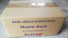 """NEW SuperMicro CSE-M14T-B Mobile Rack 4 hot swap trays for 2.5"""" Hdd"""