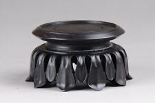 Wood round Display stand Lotus base for incense burner teapot statue 4.2 inch