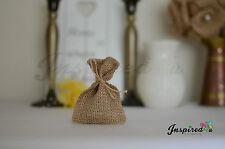 10 x Mini Hessian Burlap Favor Bags Wedding Rustic Burlap Bag  6 x 9 cm