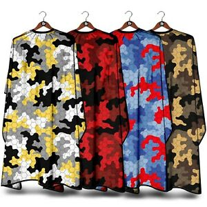 CAMOUFLAGE BARBERS GOWN HAIR CUT/CUTTING HAIRDRESSING HAIRDRESSERS SALON CAPE
