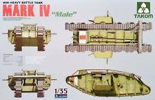 """Takom ® 2008 WWI Heavy Battle Tank Mark IV """"Male"""" 1:35"""