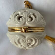 Lenox Ornament Thank You Keepsake Potpourri Hinged Ball with Coa 2005