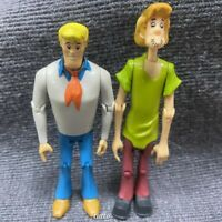 """2x 4.5"""" SCOOBY-DOO Classic Shaggy & Fred Hanna Barbera Figure Movies Toy Gift"""