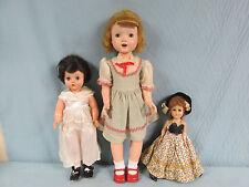 "Vtg Lot 3 Plastic Dolls Sleep Eyes 24"" Rita Paris Walking, 17"" Horsman T-16, 12"""