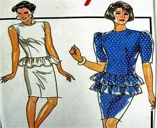 Style Sewing Pattern 1277 Ladies 10-14 Retro Peplum Dress