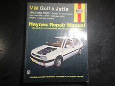 1993-2002 VW Golf GTI Jetta Cabriolet Haynes Shop Manual Diesel TDI 1.8L 2.0 Gas
