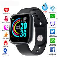 Y68 Smart Watch Bracelet Heart Rate Blood Fitness Tracker Waterproof For Phone
