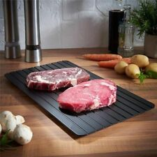 Magic Defrost Tray Metal Plate Defrosting Tray Safe Fast Frozen Meat Defrost