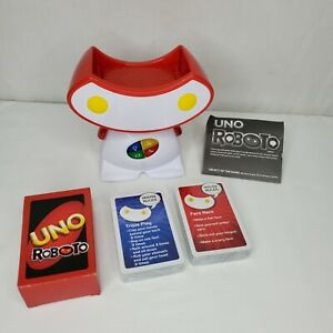 Uno Roboto Electronic Game Mattel New Without Box Cards Talking Robot New 2010