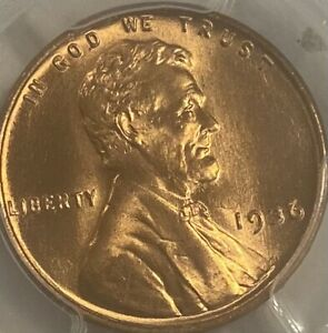 1936-P PCGS MS66RD Red Lincoln Cent Wheat Penny Gem UNC
