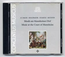 Klassik CD Musik Am Mannheimer Hof Harnoncourt JC.Bach Holzbauer Stamitz Richter