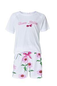 """LOUIS & LOUISA """" Blumen Mädchen """" Pyjama Blumen Short Set Gr. 116   NEU"""
