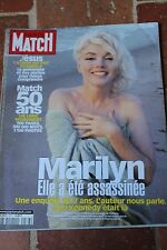 PARIS MATCH N° 2578 MARILYN MONROE ENQUETE SUR UNE MORT 1998