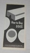 1968 HOW TO BUY EGGS by the US DEPARTMENT of ARGRICULTURE PAMPHLET