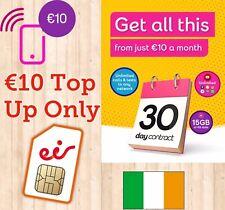 €10 Eir/ Meteor Ireland Top Up Voucher only