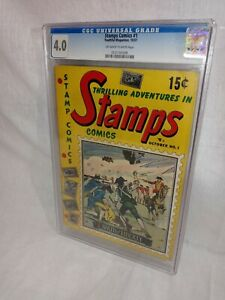 1951 Thrilling Adventures in Stamps Comics #1 ~George Rogers Clark~CGC  4.0~