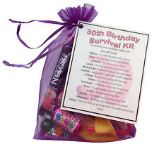 30th Birthday Survival Kit - unique keepsake to make the recipient giggle.