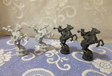 Harry Potter Wizard Chess 2002;  Black  White(Gray) Knights Replacement Pieces