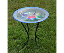 Bird Baths Dragonfly Trio Glass Bird Bath with Stand Se5014