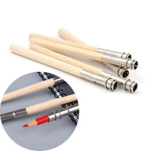 5Pcs 13cm Pencil Extender Wooden Lengthener Sketch Painting Pen Extension Supply