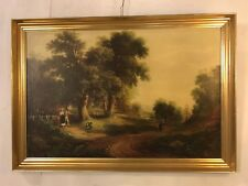 Print Antique Walk In The Country.Gilded Frame Grt Cnd.C12pix4detail.MAKE OFFER