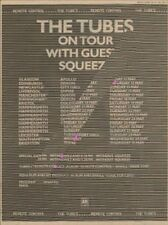 Tubes + Squeeze UK Tour Advert 1979 MM-CSRY