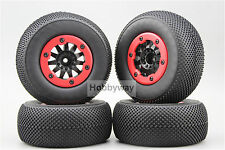4pcs RC 1/10 Bead Lock Short Course Tire Tyre Set 12mm hex 1/2 offset 30001