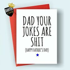 F4 DAD FATHERS DAY HAPPY BIRTHDAY GREETINGS CARD RUDE FUNNY ADULT JOKE CHEEKY
