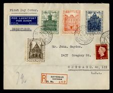 DR WHO 1948 NETHERLANDS FDC BUILDINGS SEMIPOSTALS C242629