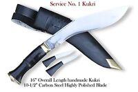 """Official issue kukri-10""""Blade Service no 1 kukri,Gurkha knive,military kukri"""