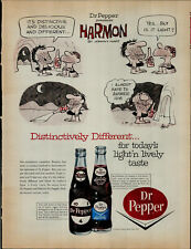 1964 Dr. Pepper Soda Harmon Johnny Hart Artist Vintage Print Ad 3599