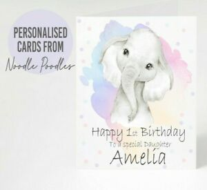 Personalised Card Baby 1st First Birthday Daughter Granddaughter Niece Cute