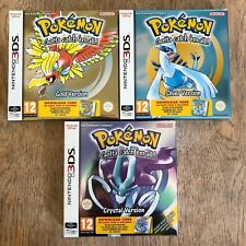 Pokemon Triple Bundle Crystal Gold Silver for 3DS 2DS E-SHOP New