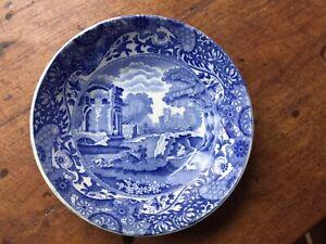 7 Vintage Copeland Spode Blue Italian Bowls = SOLD