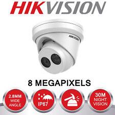 Hikvision 8MP IP Cámara CCTV POE año completo 4K al aire libre Torreta 30M Visión Nocturna Reino Unido