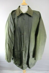 SUPERB CLAYDON GREEN WAXED COTTON COUNTRY SPORTS COAT 48 INCH XXL