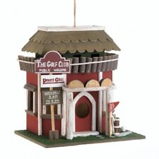 Rustic Wooden 19th Hole On The Green Golf Course Clubhouse Birdhouse- Gifts