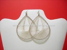 Peruvian Handmade White Metallic Threaded Earring