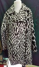 GORGEOUS Leopard Print BANANA REPUBLIC Italian Fabric Winter Coat Jacket SMall