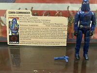 GI Joe Hasbro Cobra Commander (Hooded) Action Figure 1984 Complete W/ Card