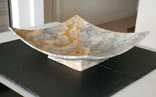 Rare Medium Marble Fruit Display Bowl - Hotel Commercial Domestic Contemporary